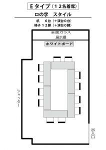 E ロの字(12名着席)スタイル
